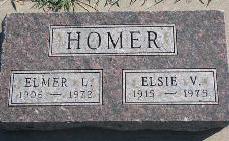 HOMER, ELSIE V. - Union County, South Dakota | ELSIE V. HOMER - South Dakota Gravestone Photos
