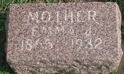 HOMER, EMMA J. - Union County, South Dakota | EMMA J. HOMER - South Dakota Gravestone Photos