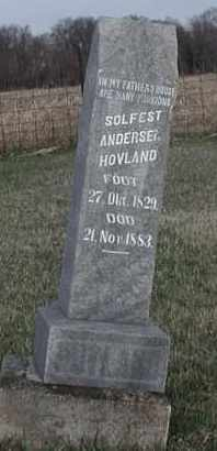 HOVLAND, SOLFEST ANDERSEN - Union County, South Dakota   SOLFEST ANDERSEN HOVLAND - South Dakota Gravestone Photos