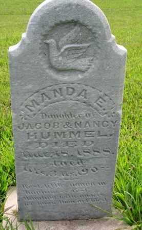 HUMMEL, MANDA E. - Union County, South Dakota | MANDA E. HUMMEL - South Dakota Gravestone Photos