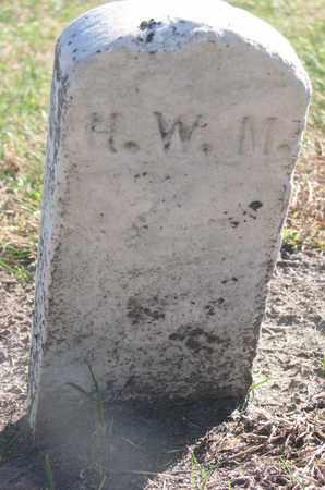 H.W.M., UNKNOWN - Union County, South Dakota   UNKNOWN H.W.M. - South Dakota Gravestone Photos