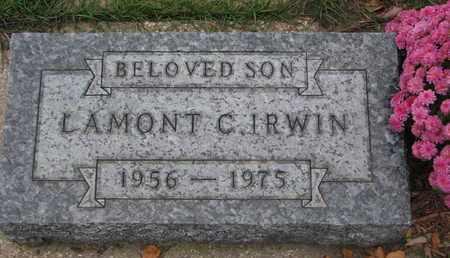 IRWIN, LAMONT C. - Union County, South Dakota   LAMONT C. IRWIN - South Dakota Gravestone Photos