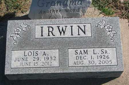 IRWIN, SAM L. SR. - Union County, South Dakota | SAM L. SR. IRWIN - South Dakota Gravestone Photos