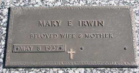 IRWIN, MARY E. - Union County, South Dakota | MARY E. IRWIN - South Dakota Gravestone Photos