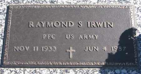 IRWIN, RAYMOND S. (MILITARY) - Union County, South Dakota | RAYMOND S. (MILITARY) IRWIN - South Dakota Gravestone Photos