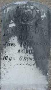 IVERSON, ANDREW - Union County, South Dakota   ANDREW IVERSON - South Dakota Gravestone Photos