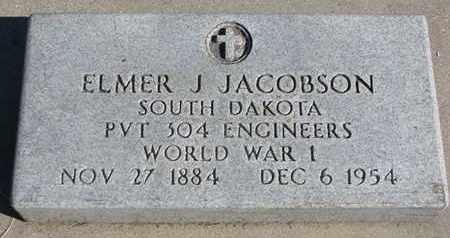 JACOBSON, ELMER J. - Union County, South Dakota | ELMER J. JACOBSON - South Dakota Gravestone Photos