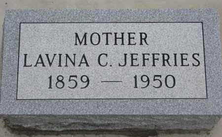 JEFFRIES, LAVINA C. - Union County, South Dakota | LAVINA C. JEFFRIES - South Dakota Gravestone Photos