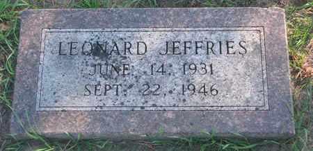 JEFFRIES, LEONARD - Union County, South Dakota   LEONARD JEFFRIES - South Dakota Gravestone Photos