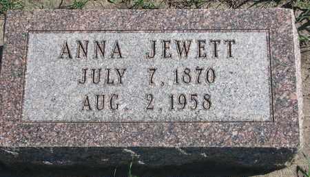JEWETT, ANNA - Union County, South Dakota   ANNA JEWETT - South Dakota Gravestone Photos
