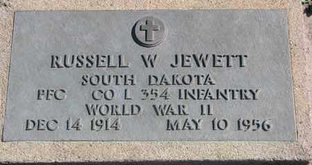 JEWETT, RUSSELL W. (WORLD WAR II) - Union County, South Dakota   RUSSELL W. (WORLD WAR II) JEWETT - South Dakota Gravestone Photos