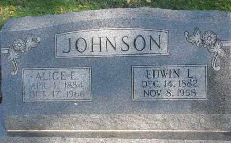 JOHNSON, EDWIN L. - Union County, South Dakota | EDWIN L. JOHNSON - South Dakota Gravestone Photos