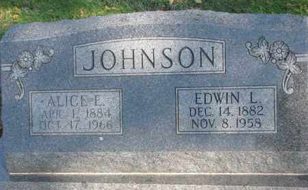 JOHNSON, ALICE E. - Union County, South Dakota | ALICE E. JOHNSON - South Dakota Gravestone Photos