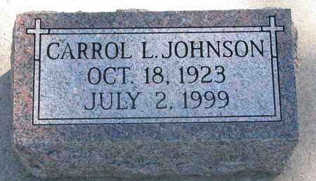 JOHNSON, CARROL L. - Union County, South Dakota   CARROL L. JOHNSON - South Dakota Gravestone Photos