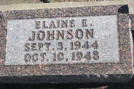 JOHNSON, ELAINE E. - Union County, South Dakota   ELAINE E. JOHNSON - South Dakota Gravestone Photos