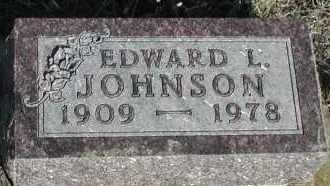 JOHNSON, EDWARD L - Union County, South Dakota | EDWARD L JOHNSON - South Dakota Gravestone Photos