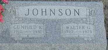 JOHNSON, WALTER G - Union County, South Dakota | WALTER G JOHNSON - South Dakota Gravestone Photos
