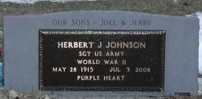 JOHNSON, HERBERT JOEL (WWII) - Union County, South Dakota | HERBERT JOEL (WWII) JOHNSON - South Dakota Gravestone Photos