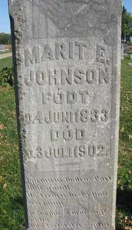 JOHNSON, MARIT E. (CLOSEUP) - Union County, South Dakota | MARIT E. (CLOSEUP) JOHNSON - South Dakota Gravestone Photos
