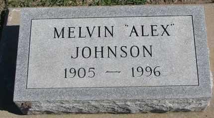 "JOHNSON, MELVIN ""ALEX"" - Union County, South Dakota | MELVIN ""ALEX"" JOHNSON - South Dakota Gravestone Photos"