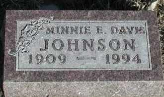 DAVIS JOHNSON, MINNIE E - Union County, South Dakota | MINNIE E DAVIS JOHNSON - South Dakota Gravestone Photos
