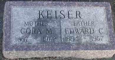 KEISER, EDWARD C - Union County, South Dakota   EDWARD C KEISER - South Dakota Gravestone Photos