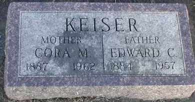KEISER, CORA M - Union County, South Dakota | CORA M KEISER - South Dakota Gravestone Photos