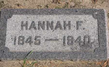 KENT, HANNAH F. - Union County, South Dakota | HANNAH F. KENT - South Dakota Gravestone Photos