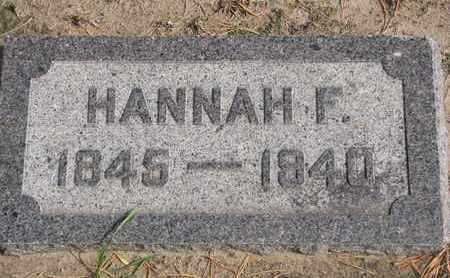 KENT, HANNAH F. - Union County, South Dakota | HANNAH F. KENT - South Dakota Gravestone Photos
