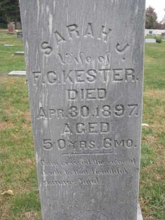 KESTER, SARAH J. (CLOSEUP) - Union County, South Dakota | SARAH J. (CLOSEUP) KESTER - South Dakota Gravestone Photos