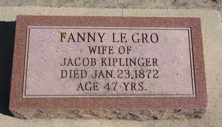 KIPLINGER, FANNY - Union County, South Dakota | FANNY KIPLINGER - South Dakota Gravestone Photos