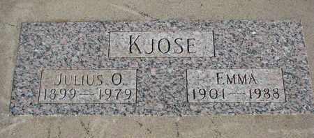 KJOSE, JULIUS O. - Union County, South Dakota | JULIUS O. KJOSE - South Dakota Gravestone Photos