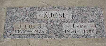 KJOSE, JULIUS O. - Union County, South Dakota | JULIUS O. KJOSE - South Dakota Gravestone Photos