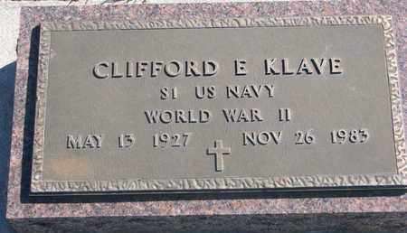 KLAVE, CLIFFORD E. (WORLD WAR II) - Union County, South Dakota | CLIFFORD E. (WORLD WAR II) KLAVE - South Dakota Gravestone Photos