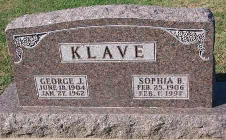 KLAVE, SOPHIA B. - Union County, South Dakota | SOPHIA B. KLAVE - South Dakota Gravestone Photos