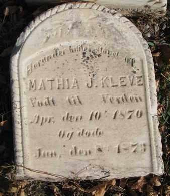 KLEVE, MATHIA J. - Union County, South Dakota | MATHIA J. KLEVE - South Dakota Gravestone Photos