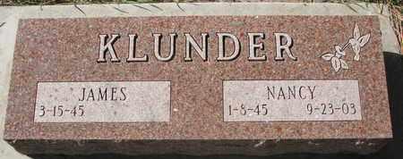 KLUNDER, NANCY - Union County, South Dakota | NANCY KLUNDER - South Dakota Gravestone Photos