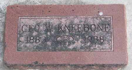 KNEEBONE, GEORGE W. - Union County, South Dakota   GEORGE W. KNEEBONE - South Dakota Gravestone Photos