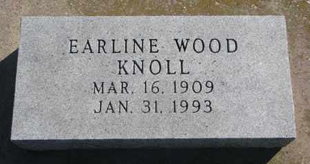 WOOD KNOLL, EARLINE - Union County, South Dakota | EARLINE WOOD KNOLL - South Dakota Gravestone Photos