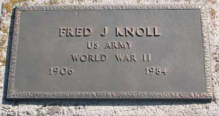 KNOLL, FRED J. (WORLD WAR II) - Union County, South Dakota | FRED J. (WORLD WAR II) KNOLL - South Dakota Gravestone Photos
