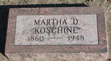 KOSCHINE, MARTHA D. - Union County, South Dakota | MARTHA D. KOSCHINE - South Dakota Gravestone Photos