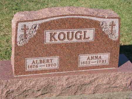 KOUGL, ALBERT - Union County, South Dakota | ALBERT KOUGL - South Dakota Gravestone Photos