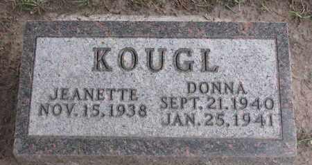KOUGL, JEANETTE - Union County, South Dakota | JEANETTE KOUGL - South Dakota Gravestone Photos