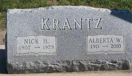 KRANTZ, NICK H. - Union County, South Dakota   NICK H. KRANTZ - South Dakota Gravestone Photos