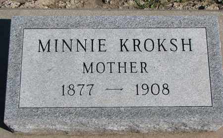 KROKSH, MINNIE - Union County, South Dakota | MINNIE KROKSH - South Dakota Gravestone Photos