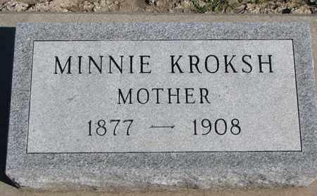 KROKSH, MINNIE - Union County, South Dakota | MINNIE KROKSH - South Dakota Gravestone Photos