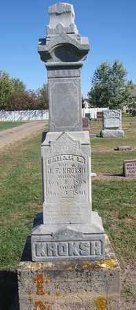 KROKSH, SARAH L. - Union County, South Dakota   SARAH L. KROKSH - South Dakota Gravestone Photos