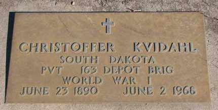 KVIDAHL, CHRISTOFFER (WORLD WAR I) - Union County, South Dakota | CHRISTOFFER (WORLD WAR I) KVIDAHL - South Dakota Gravestone Photos