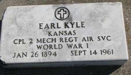 KYLE, EARL (WORLD WAR I) - Union County, South Dakota   EARL (WORLD WAR I) KYLE - South Dakota Gravestone Photos
