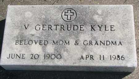 KYLE, V. GERTRUDE - Union County, South Dakota   V. GERTRUDE KYLE - South Dakota Gravestone Photos